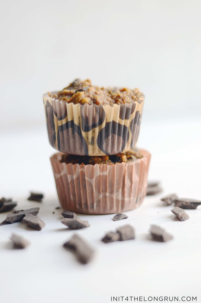 ... how moist and chocolatey these pumpkin muffins are, to miss the flour