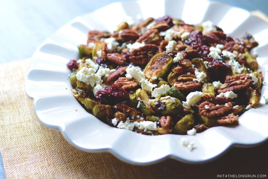 Cherry Pecan Brussels Sprouts