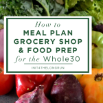 Meal Planning, Grocery Shopping and Food Prepping for the Whole30