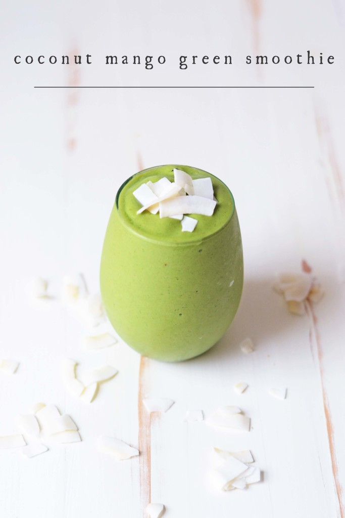 coconut mango green smoothie6