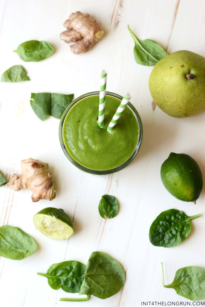 Pear Ginger Green Smoothie