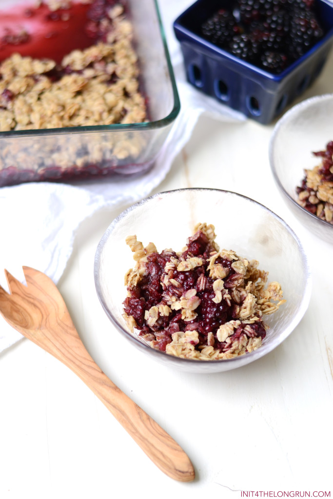 Healthy Blackberry Crisp