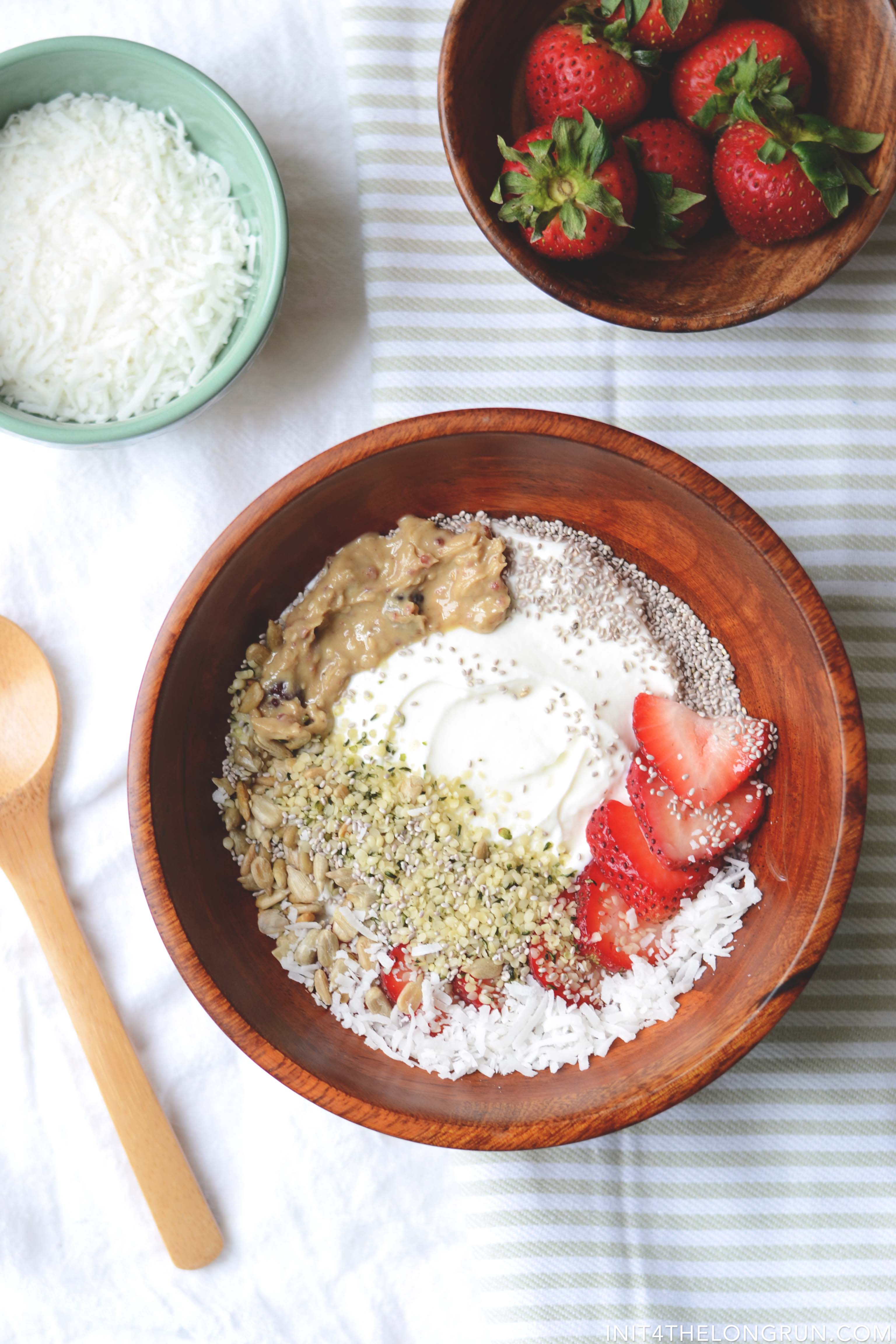 Strawberry Coconut Yogurt Breakfast Bowl