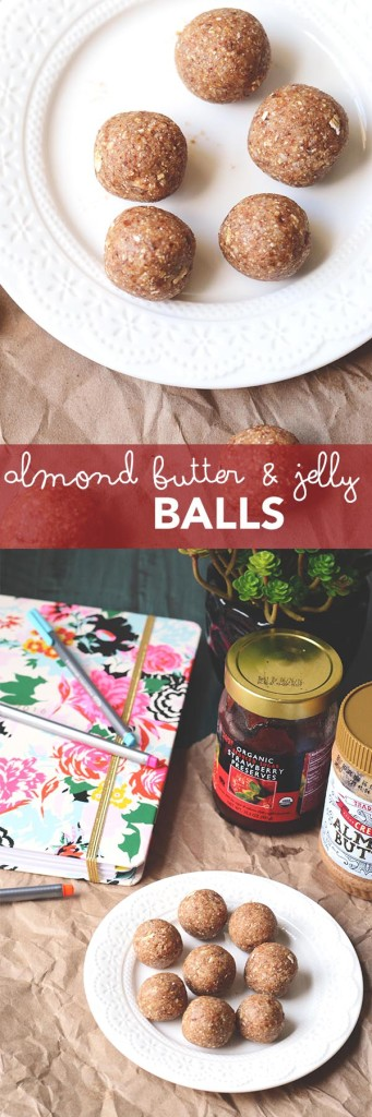 Almond Butter and Jelly Balls