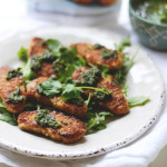 Chicken-less Tenders with Pesto Dipping Sauce