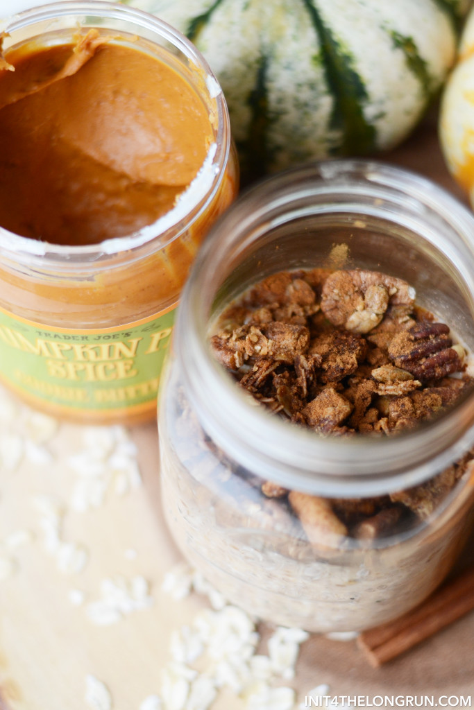 These Pumpkin Pie Cookie Butter Overnight Oats will make all your fall-inspired breakfast dreams come true.