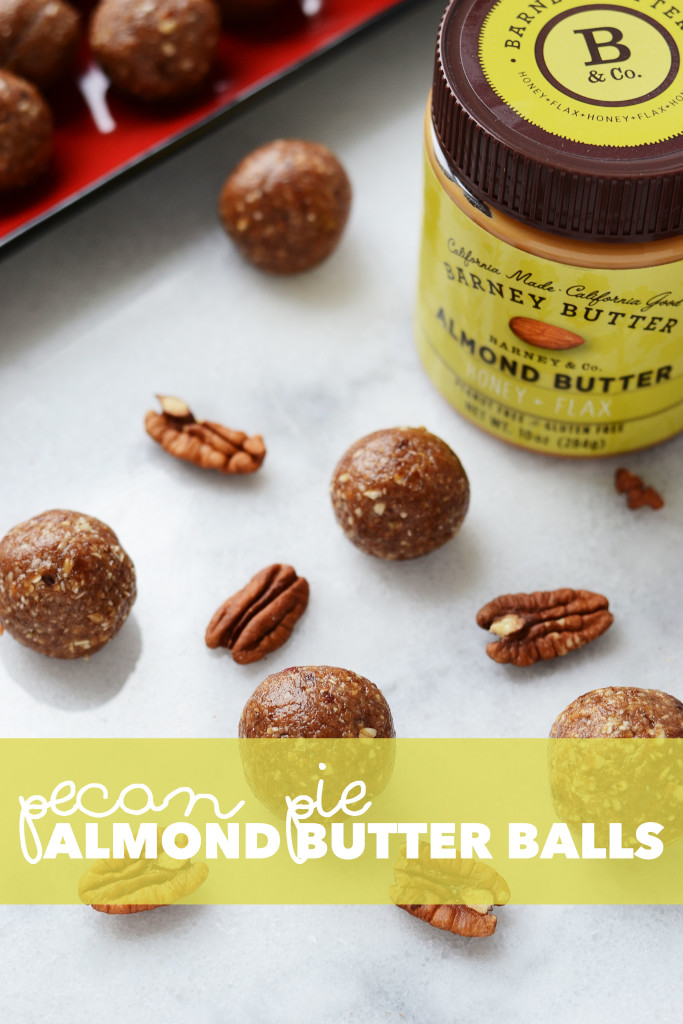 Pecan Pie Almond Butter Balls // Get the sweet pecan-y goodness with out all the extra sugar with these Pecan Pie Almond Butter Balls - init4thelongrun.com