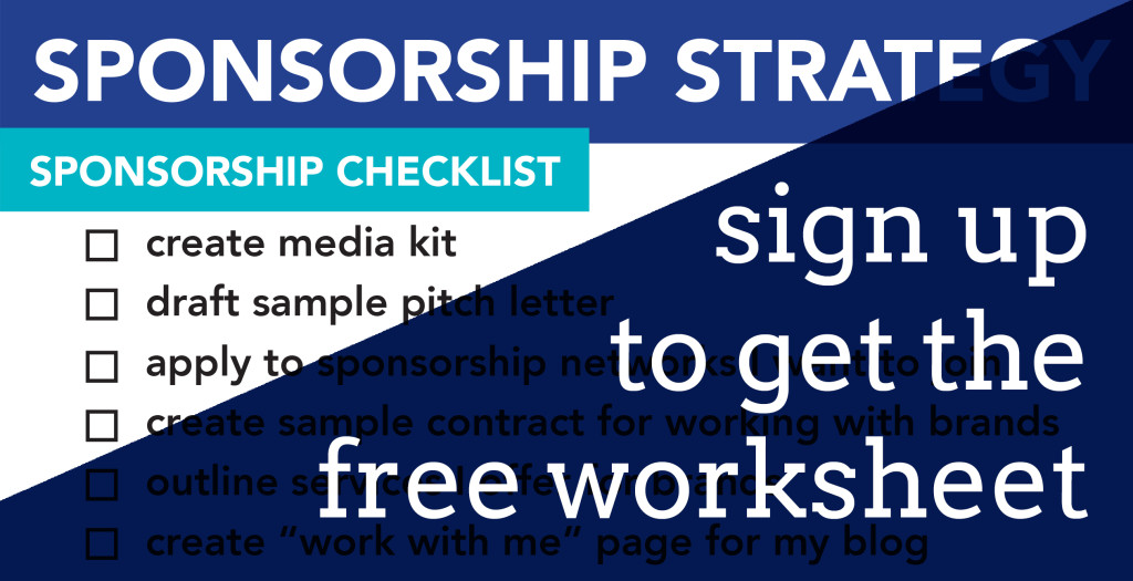 Sponsorship Worksheet