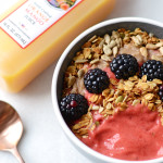 Raspberry Orange Mango Smoothie Bowl