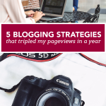 The 5 Blogging Strategies that Tripled My Pageviews in 1 Year