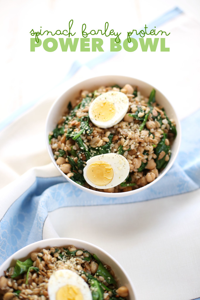 Spinach Barley Protein Power Bowl