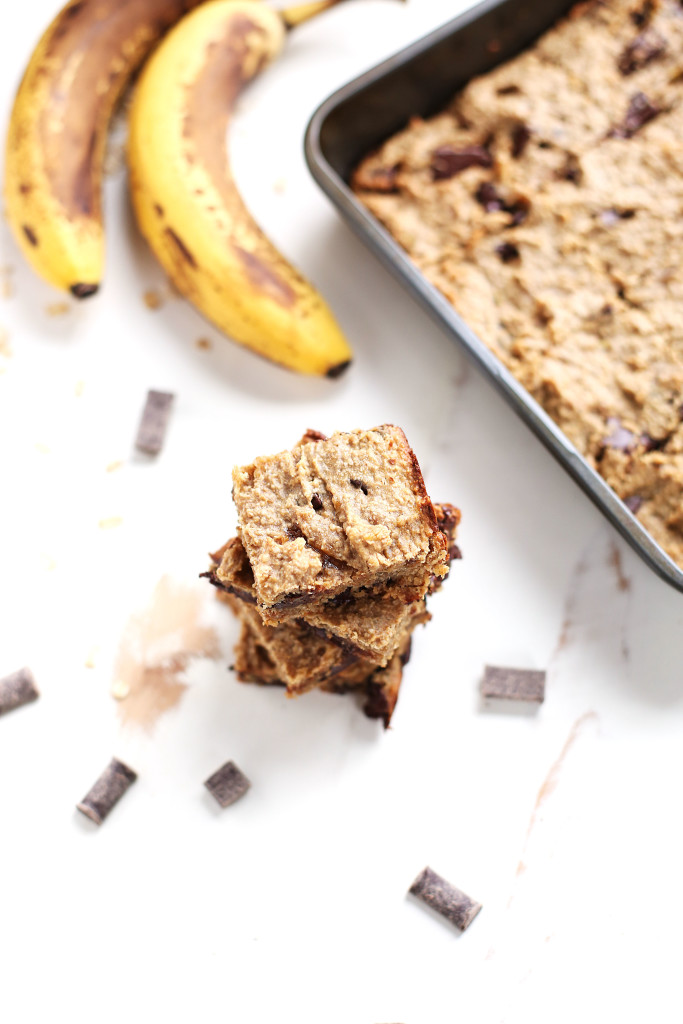 Chocolate Chip Banana Bread Blondie