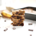 Chocolate Chip Banana Bread Blondies (Gluten Free)