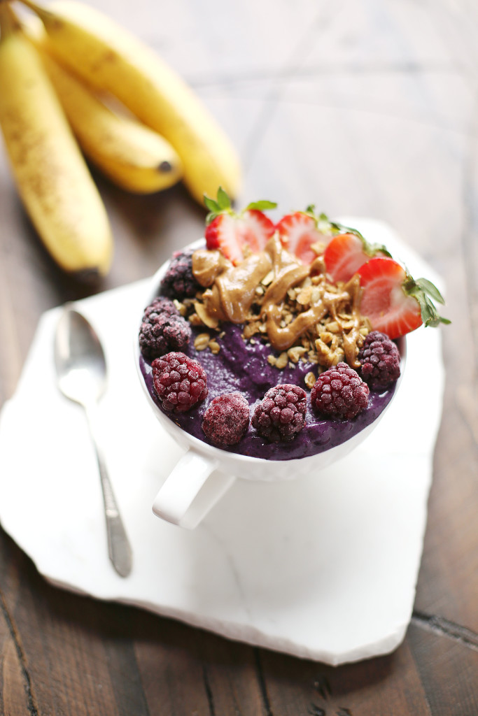 Purple Protein Power Smoothie Bowl In It For The Long Run