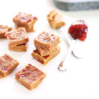 Peanut butter and jelly freezer fudge