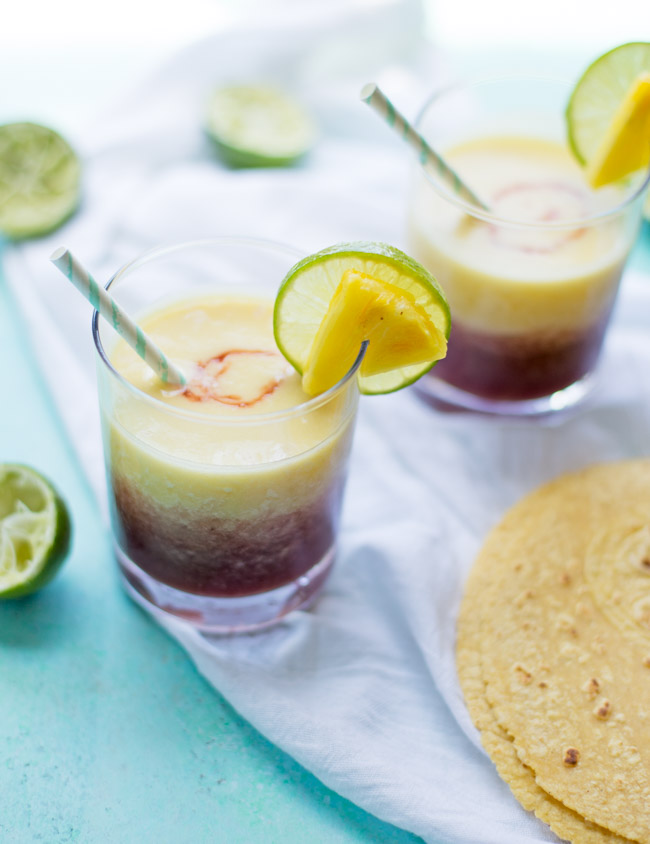 Pineapple Cherry Margaritas