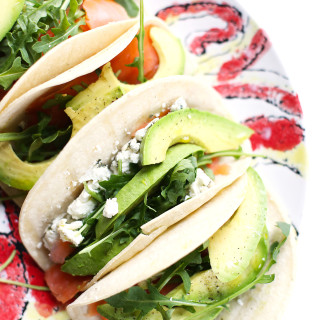 Smoked Salmon and Avocado Tacos