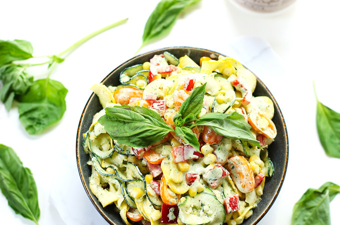 Creamy Basil Zoodle Salad1