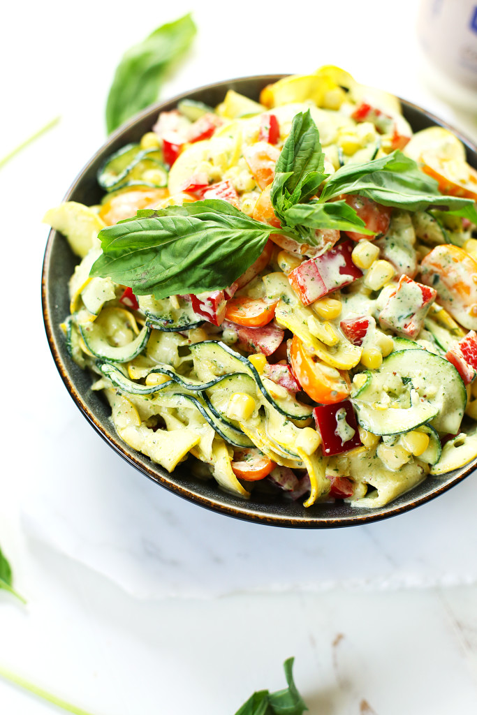 Creamy Basil Zoodle Salad4