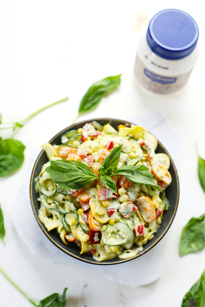 Creamy Basil Zoodle Salad5
