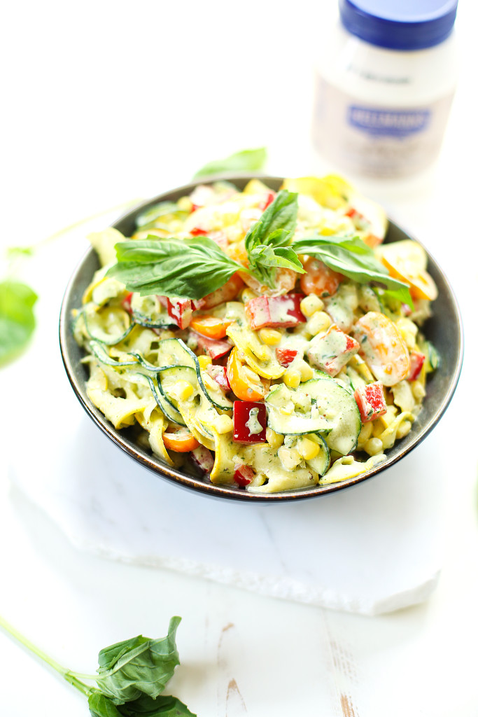 Creamy Basil Zoodle Salad7