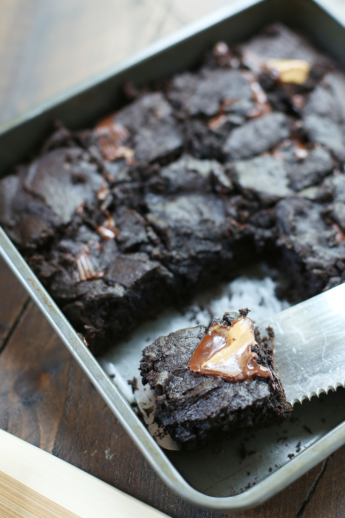 Dark Chocolate Peanut Butter Cup Brownies