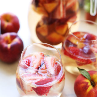 Strawberry Peach White Wine Sangria