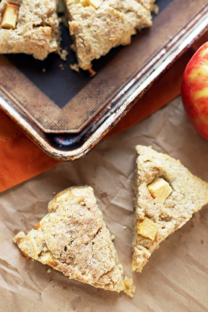 Cinnamon Honey Crisp Apple Scones