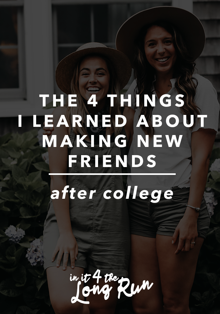 how to make new friends after college