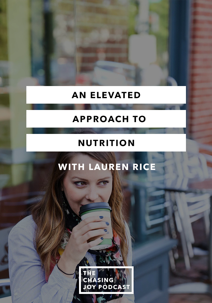 An Elevated Approach to Nutrition
