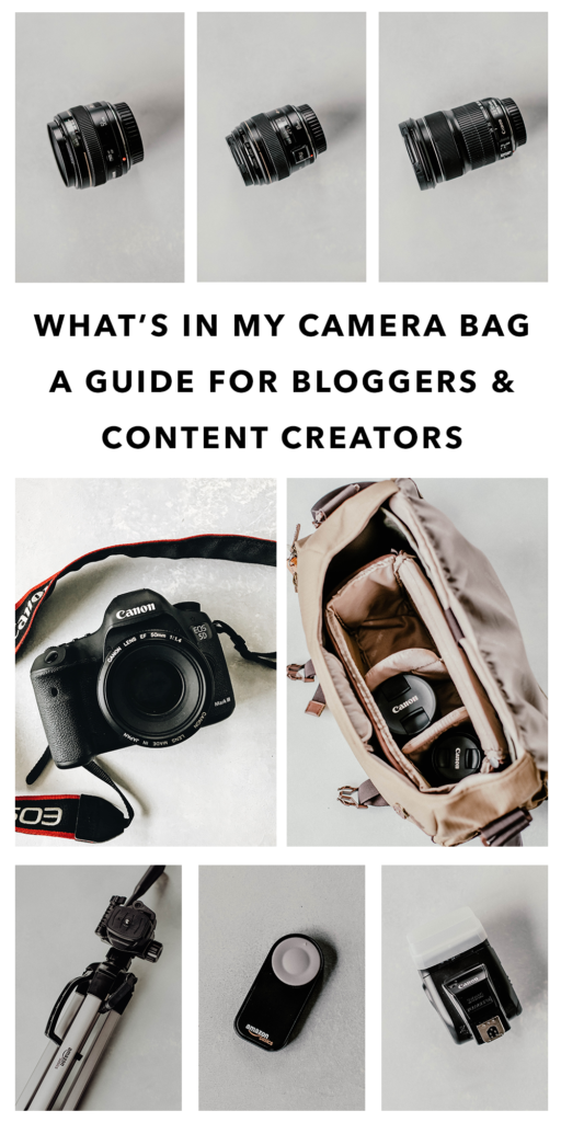 What's in My Camera Bag - For Bloggers & Content Creators