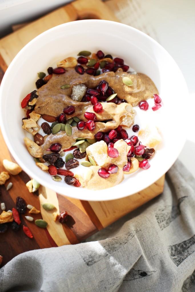Almond Butter Superfood Yogurt Bowl
